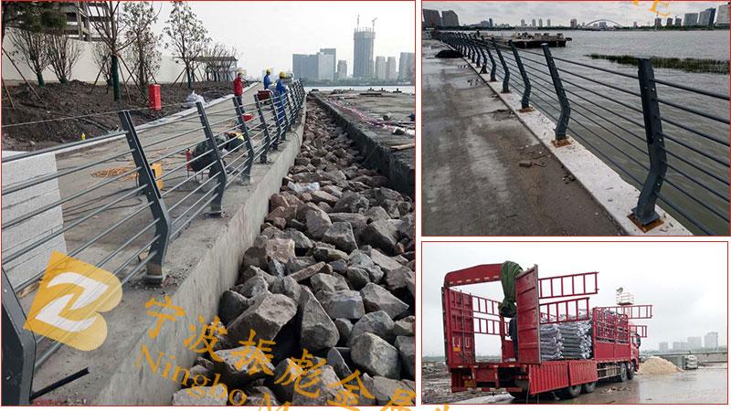 上海河道锌钢护栏案例-3